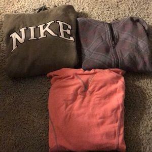Three Sweatshirts